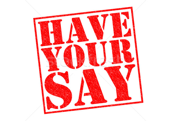HAVE YOUR SAY Stock photo © chrisdorney
