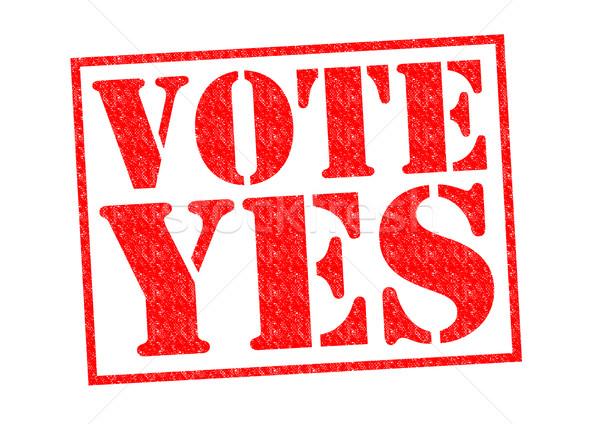 Vote oui rouge blanche droit Photo stock © chrisdorney