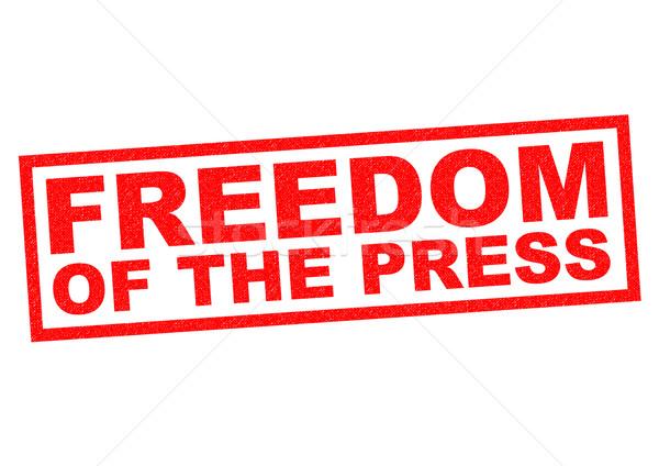FREEDOM OF THE PRESS Stock photo © chrisdorney