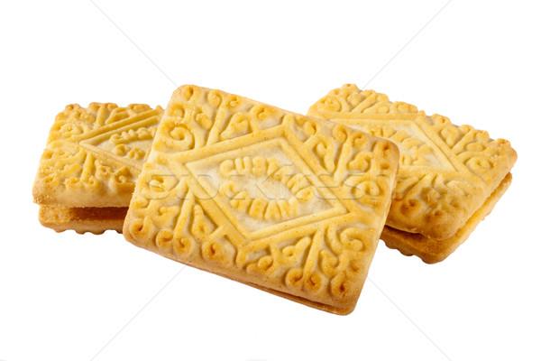 Vla room biscuits thee witte zoete Stockfoto © chrisdorney