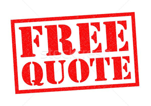FREE QUOTE Stock photo © chrisdorney