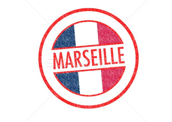Marseille pecsét fehér Európa vakáció gomb Stock fotó © chrisdorney
