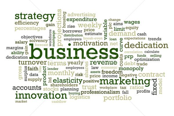 Negocios palabras mercado empresa gerente comercialización Foto stock © chrisdorney