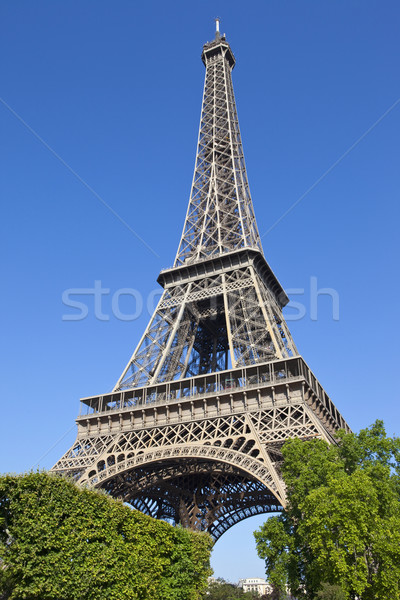 Looking up at the Eiffel Tower in Paris Stock photo © chrisdorney