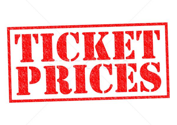 TICKET PRICES Stock photo © chrisdorney