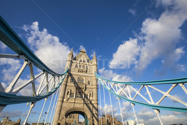 Tower Bridge Londres magnífico arquitetura nuvens cidade Foto stock © chrisdorney