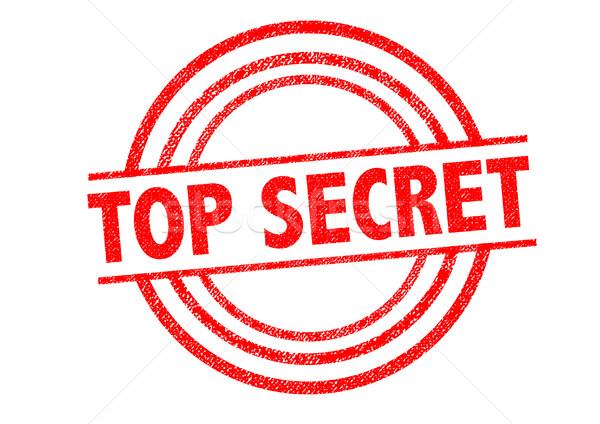 TOP SECRET Rubber Stamp Stock photo © chrisdorney