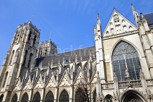 St. Michael and St. Gudula Cathedral in Brussels Stock photo © chrisdorney