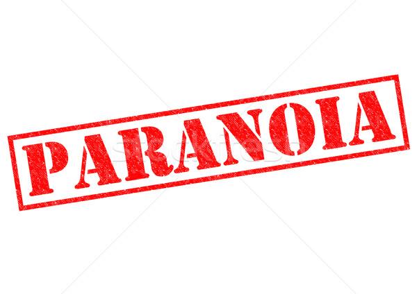 Paranóia vermelho branco louco membro Foto stock © chrisdorney