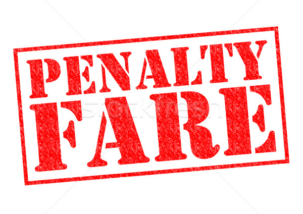 PENALTY FARE Stock photo © chrisdorney