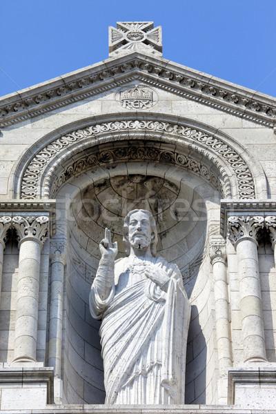 Jesus Christ Sculpture at the Basilique du Sacre Coeur in Paris Stock photo © chrisdorney