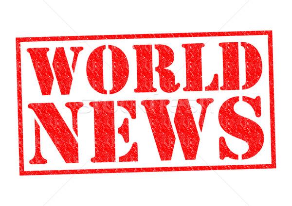 WORLD NEWS Stock photo © chrisdorney