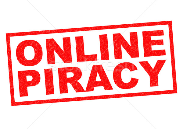 Online piraterij Rood witte internet Stockfoto © chrisdorney