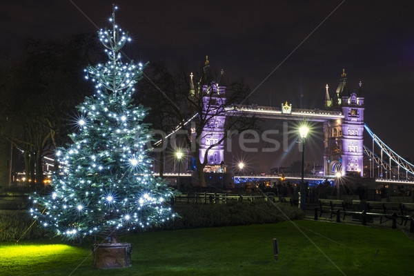Tower Bridge natal ver árvore de natal icônico Foto stock © chrisdorney
