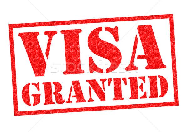 Visa rouge blanche sécurité tag Photo stock © chrisdorney