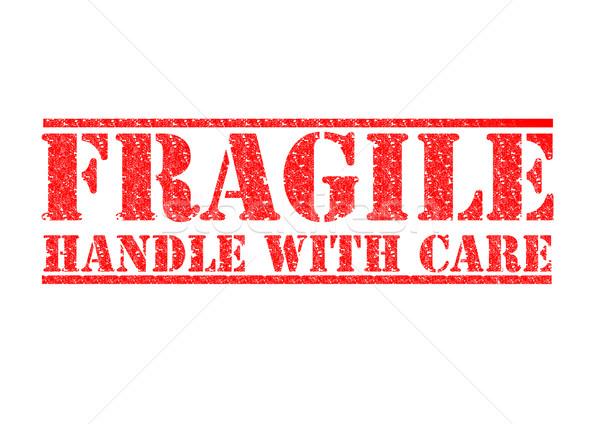 Fragile gérer soins rouge blanche Photo stock © chrisdorney