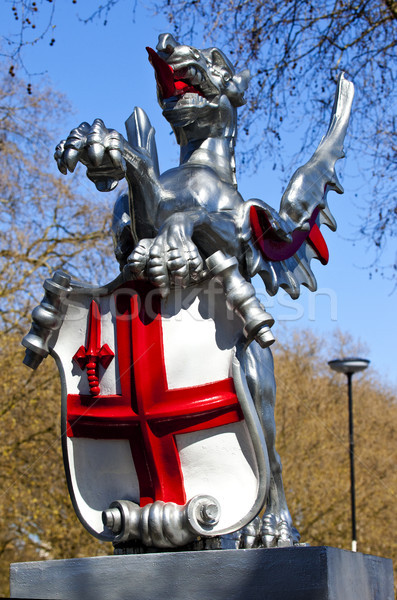 Város London sárkány egy osztályzat utazás Stock fotó © chrisdorney
