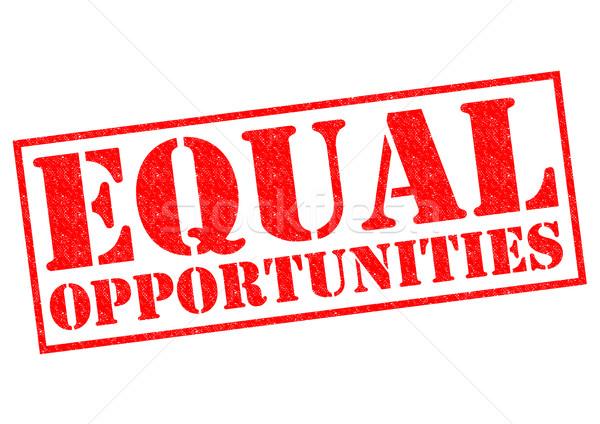 EQUAL OPPORTUNITIES Stock photo © chrisdorney