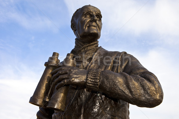 Captain Frederic John Walker Statue at the Pier Head in Liverpoo Stock photo © chrisdorney