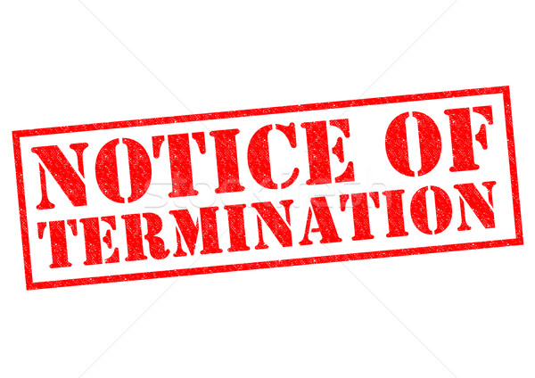 NOTICE OF TERMINATION Stock photo © chrisdorney