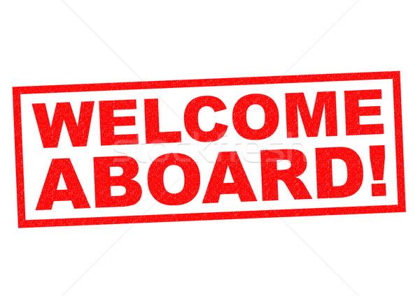 Welkom Rood witte reizen schip Stockfoto © chrisdorney
