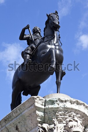 King Charles 1st Statue in Trafalgar Square, London Stock photo © chrisdorney