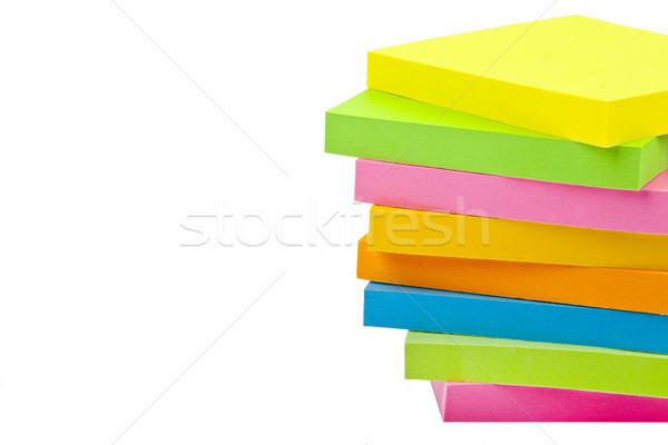 Stack of Sticky Note Pads Stock photo © chrisdorney