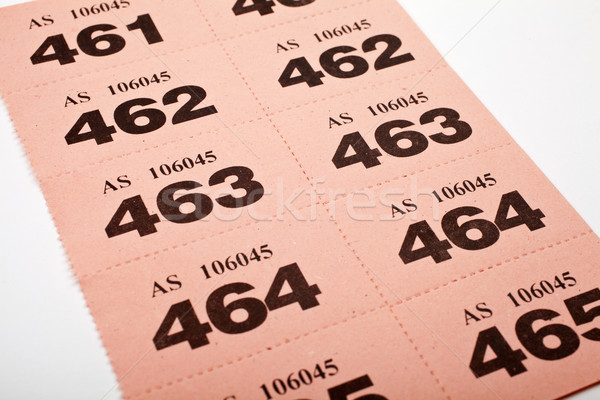Raffle Tickets Stock photo © chrisdorney