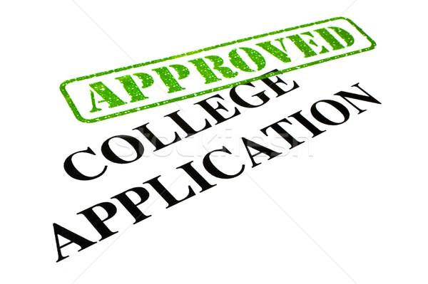 Approvato college applicazione primo piano lettera news Foto d'archivio © chrisdorney
