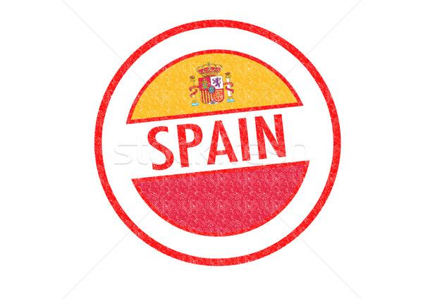 España blanco bandera vacaciones botón Foto stock © chrisdorney