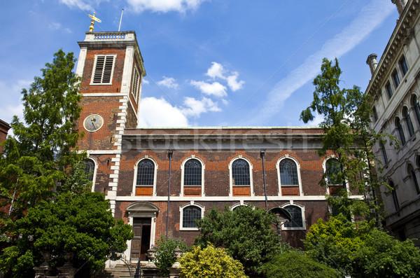 Garderobe kerk Londen mooie stad architectuur Stockfoto © chrisdorney
