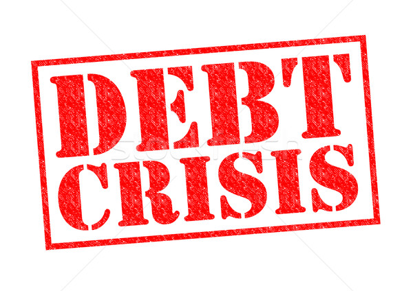 Debito crisi rosso bianco business Foto d'archivio © chrisdorney