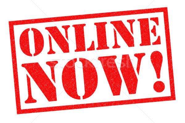 On-line acum roşu alb Internet Imagine de stoc © chrisdorney