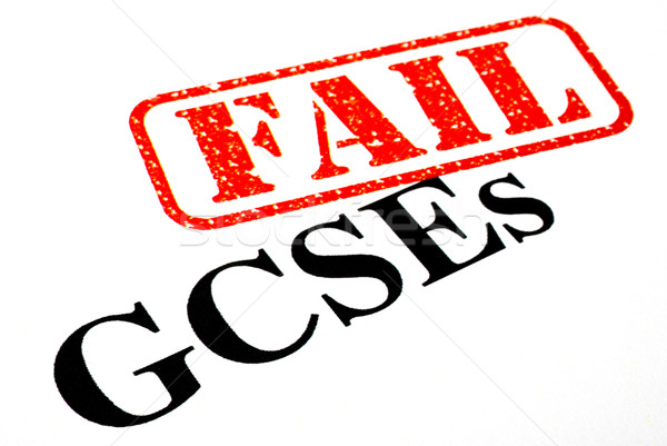 ストックフォト: 失敗した · 紙 · 学校 · ニュース · 教育 · スタンプ