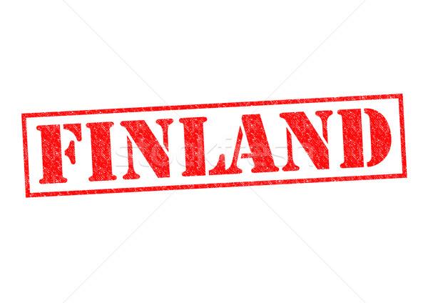 Finlandiya beyaz tatil düğme kültür Stok fotoğraf © chrisdorney