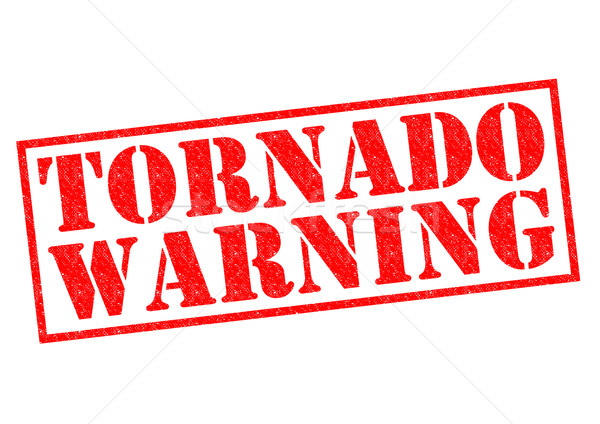 Tornado aviso vermelho branco natureza Foto stock © chrisdorney