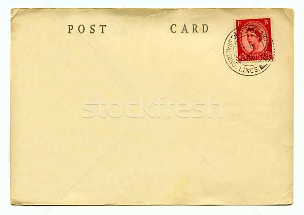 Vintage cartão postal fundo viajar escrita carta Foto stock © chrisdorney