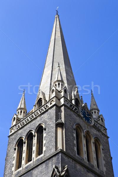 Kevesebb templom építészet gótikus Európa torony Stock fotó © chrisdorney