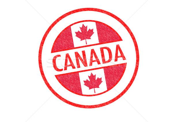 Канада белый отпуск кнопки паспорта Сток-фото © chrisdorney