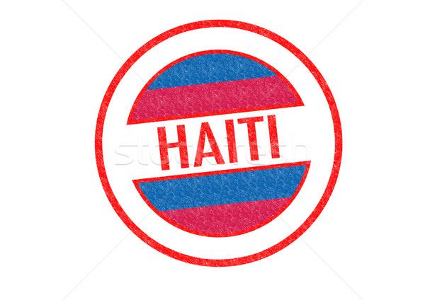 Haiti beyaz bayrak tatil düğme Stok fotoğraf © chrisdorney
