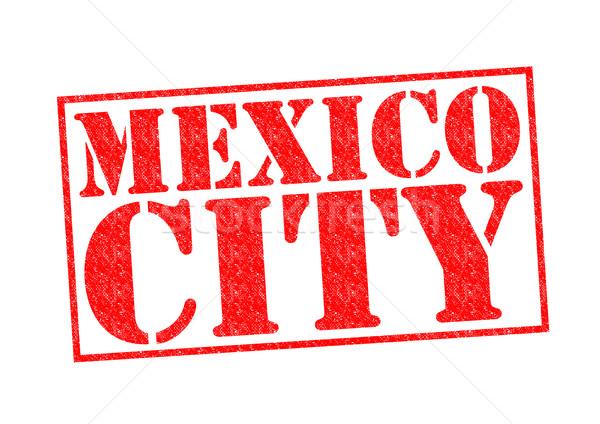 Mexikóváros pecsét fehér vakáció gomb kultúra Stock fotó © chrisdorney