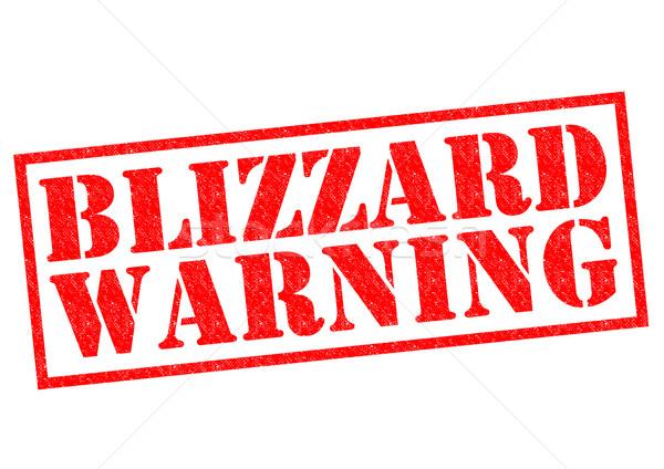BLIZZARD WARNING Stock photo © chrisdorney