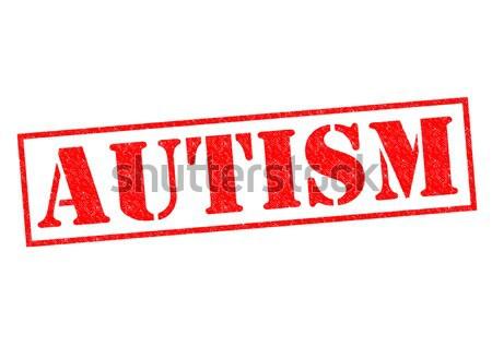 Autizmus piros pecsét fehér egészség tanul Stock fotó © chrisdorney