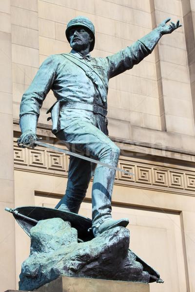 Estátua Liverpool geral fora ouvir soldado Foto stock © chrisdorney
