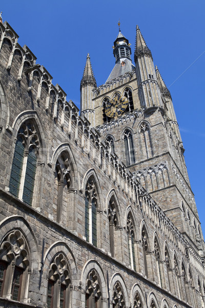 Cloth Hall in Ypres, Belgium Stock photo © chrisdorney