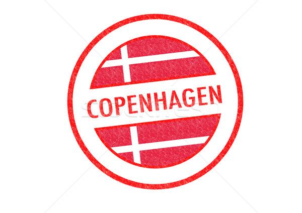 Koppenhága Dánia pecsét fehér zászló vakáció Stock fotó © chrisdorney