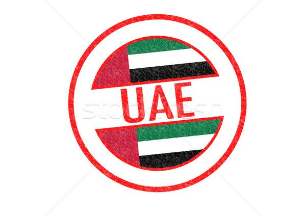 UAE Rubber Stamp Stock photo © chrisdorney