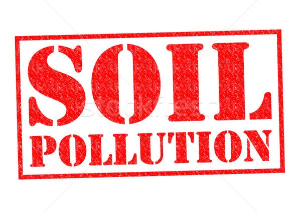 Gleby zanieczyszczenia czerwony biały bezpieczeństwa Zdjęcia stock © chrisdorney
