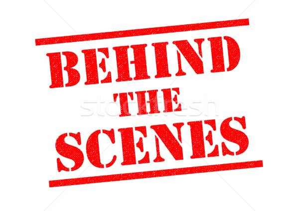 BEHIND THE SCENES Stock photo © chrisdorney