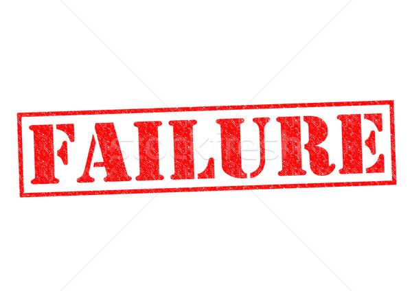 Başarısızlık beyaz kolej test kayıp Stok fotoğraf © chrisdorney